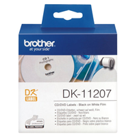 Brother DK-11207 58mm CD/DVD -tarra (filmi), 100kpl